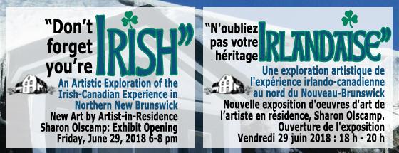 """June 29, 2018 / le 29 juin 2018: Exhibit """"Don't Forget You're Irish"""" """"N'oubliez pas votre héritage Irlandaise"""""""